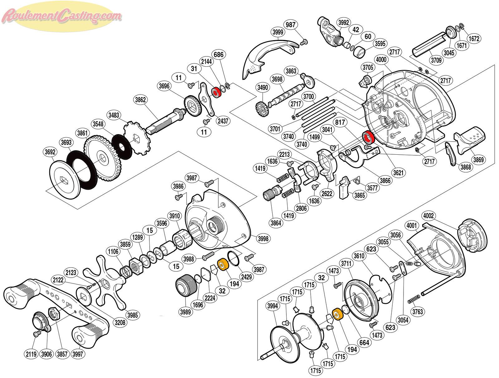 Schéma Shimano 09' Curado 301E