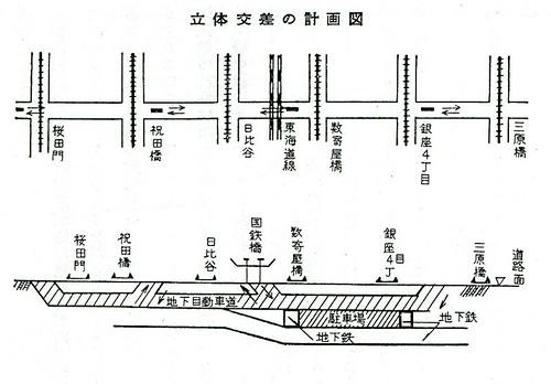 三原橋地下街を潰すはずだった銀座地下道計画