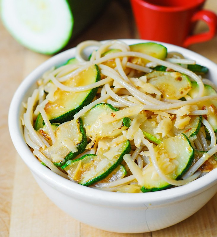 Parmesan Zucchini & Garlic Pasta recipe