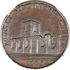 Leicestershire. Elmsthorpe 1-2 Penny 1800 obverse
