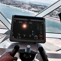 Crosstrainer session in the gym at Rayana Spa in Hyatt Capital Gate #InAbuDhabi