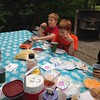 A little bit of outdoor picnic. 6 of 8 kids joining us. Not bad. Not bad. #familytime
