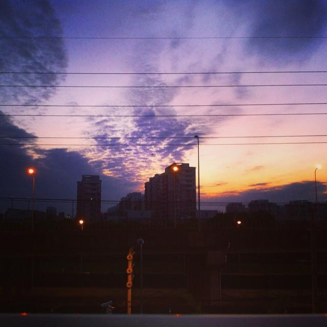 #cloudy#sunset#minhang#shanghai#china#夕阳#闵行#上海#中国