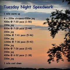 Tuesday Night Speedwork 9-16