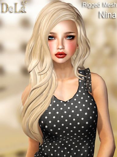 "=DeLa*= New rigged mesh hair ""Nina"""
