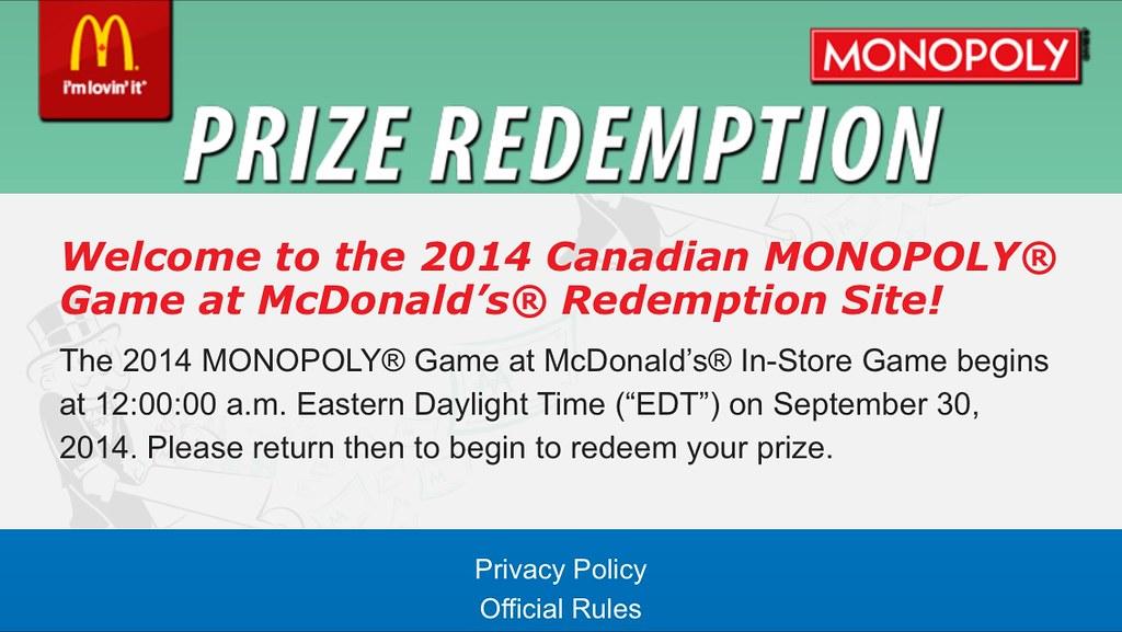 Mcdonalds Monopoly Game Board 2014 Mcdonalds Monopoly 2014 Game
