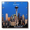 dpp_62081_1 Florene America The Beautiful - Seattle Space Needle - Wall Clocks - 10x10 Wall Clock