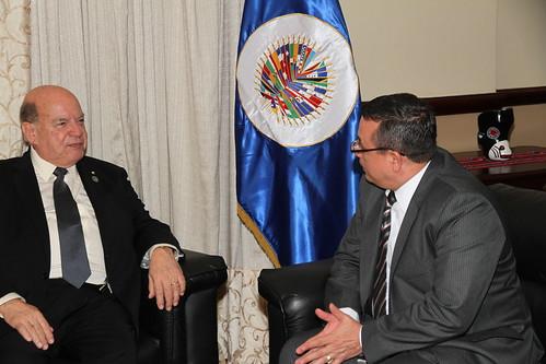 Secretario General de la OEA se reunió con el Presidente del Tribunal Supremo Electoral de Guatemala