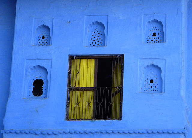 Wall in Beautiful Blue Bundi