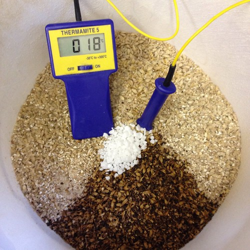 AG#128 - Belgian Hop Burst, malts with just a Tsp of CaCl.