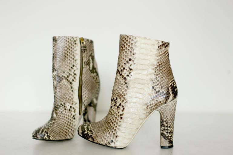zara snake skin print boots