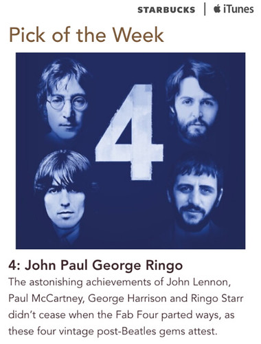 Starbucks ITunes Pick of Week - 4: John Paul George Ringo