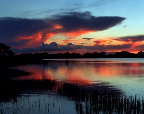 sunset red sky usa reflection nature beauty still unitedstates natural florida dramatic calm formation tranquil cloudscape floridaeverglades southflorida sawgrass lakescape palmbeachcountyflorida redripple summer2014 artisticsunsetphotography