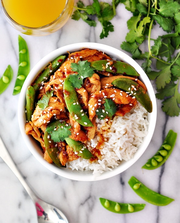 Sambal Chicken Stir-Fry with Sugar Snap Peas