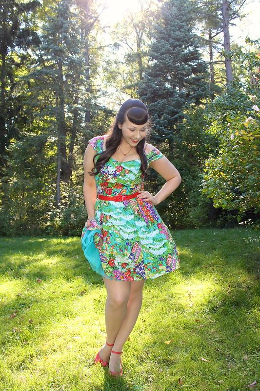 dress with crinoline