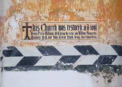 This church was restored AD 1891 (encaustic tiles by Ernest Geldart, 1892)