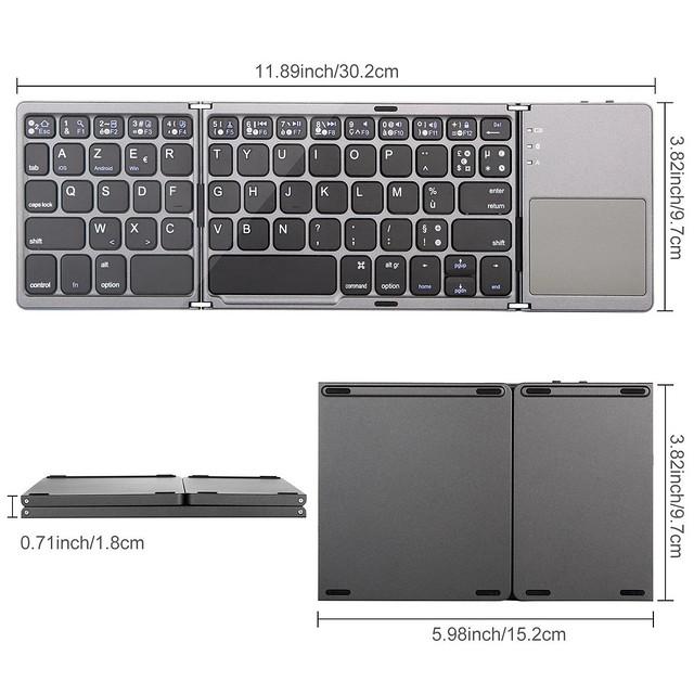 clavier Bluetooth pliable