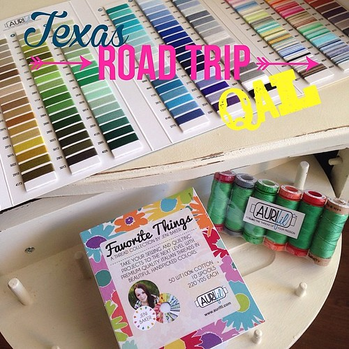 We are in Tyler today and @sewthreadink put together a wonderful guest post over at @prettylittlequilts blog. Go check out her Tyler Rose block and enter to win some Aurifil thread!! #aurifil @alexveronelli #texasroadtripqal