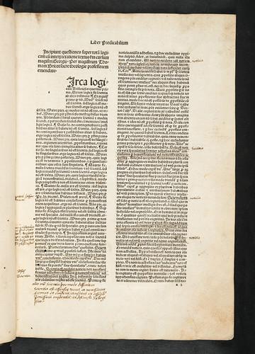 Manuscript annotations in Georgius Bruxellensis: Cursus quaestionum super totam logicam