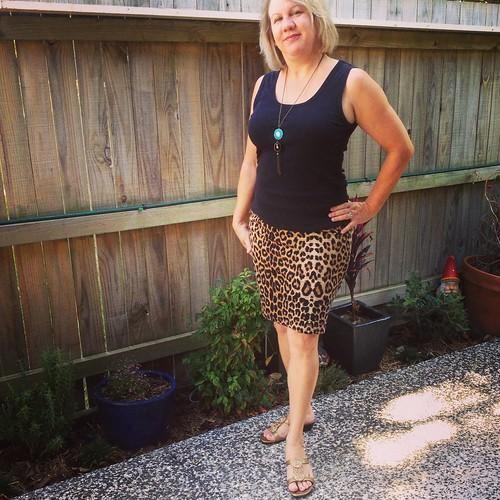 My favourite leopard print skirt