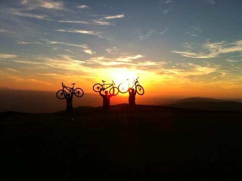 sunset sky orange cloud sun colour bike sport clouds sundown country sillouette cloudporn