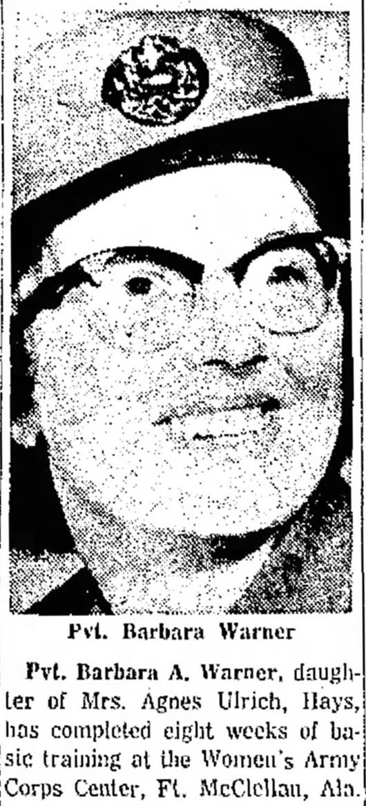 Barbara A. Constantin nee Warner