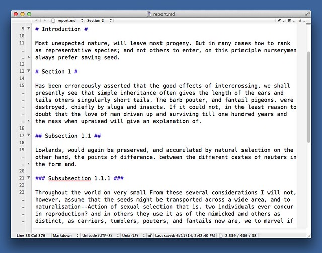 BBEdit Markdown unfolded