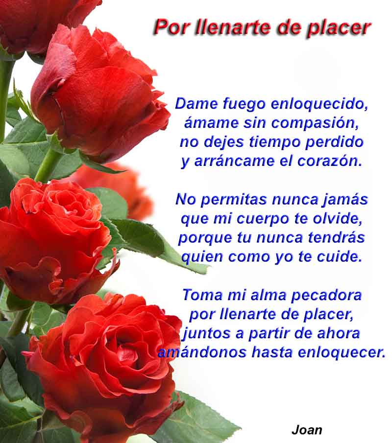 Por llenarte de placer - http://poemas.grup6.com