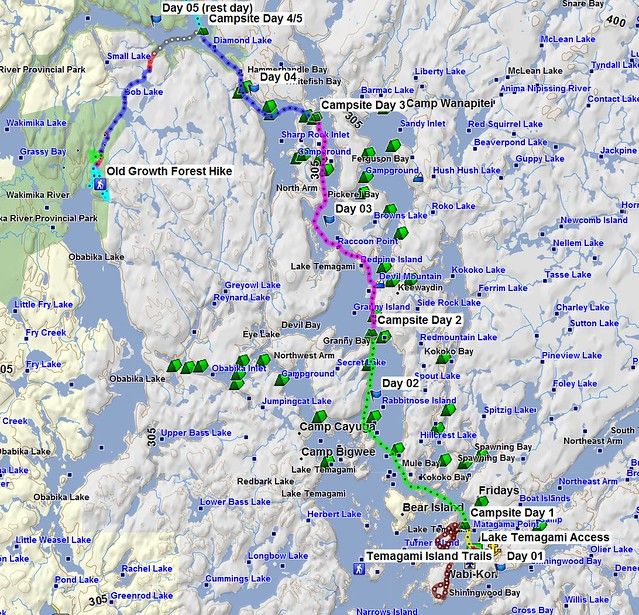 Temagami 2014 Map 1 (lower)