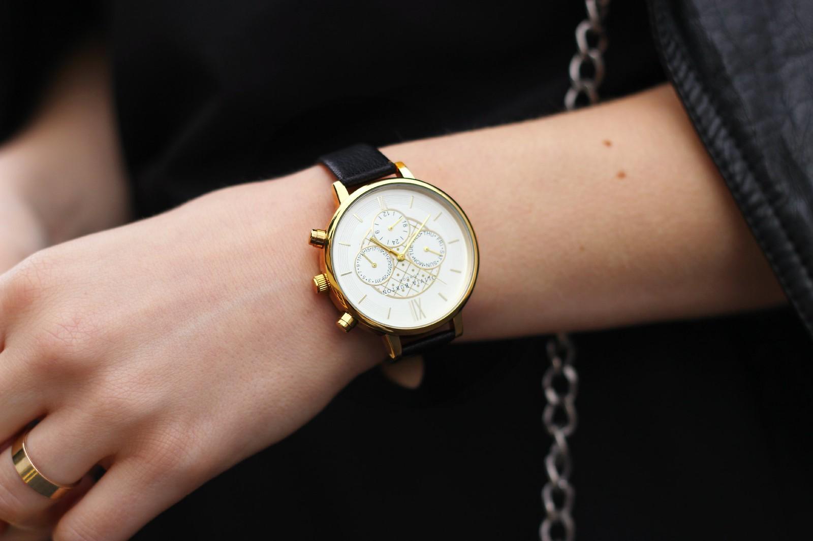 Olivia Burton black chrono watch 5