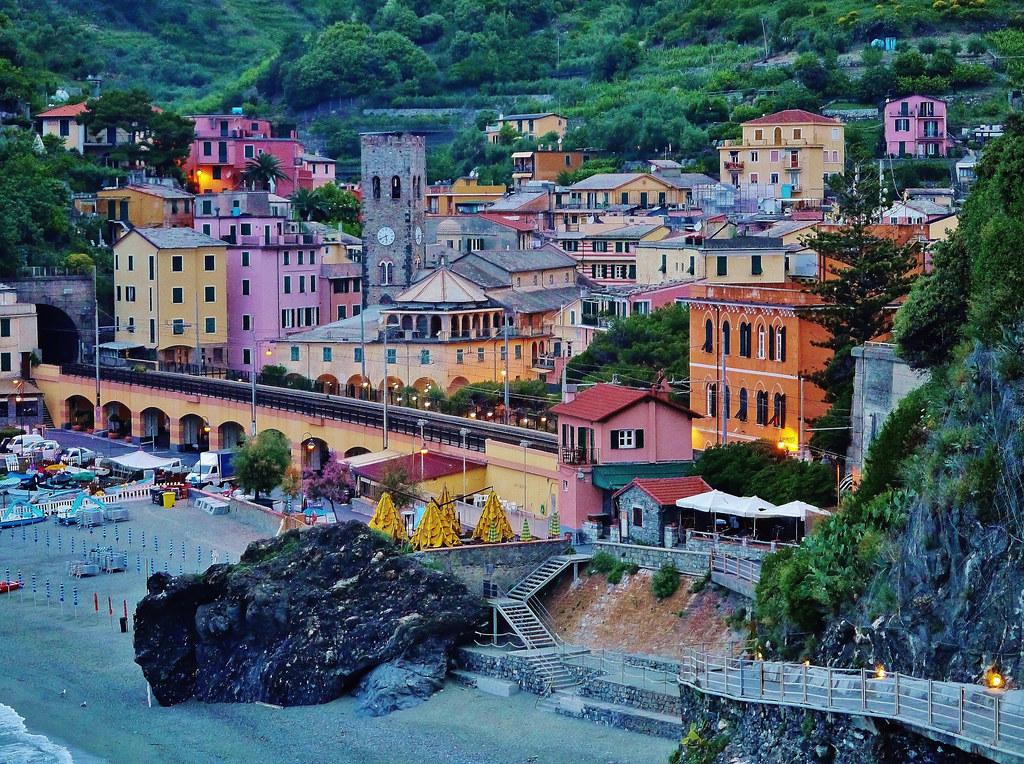 View Of Monterosso Al Mare Italy From The Hotel Porto Roc