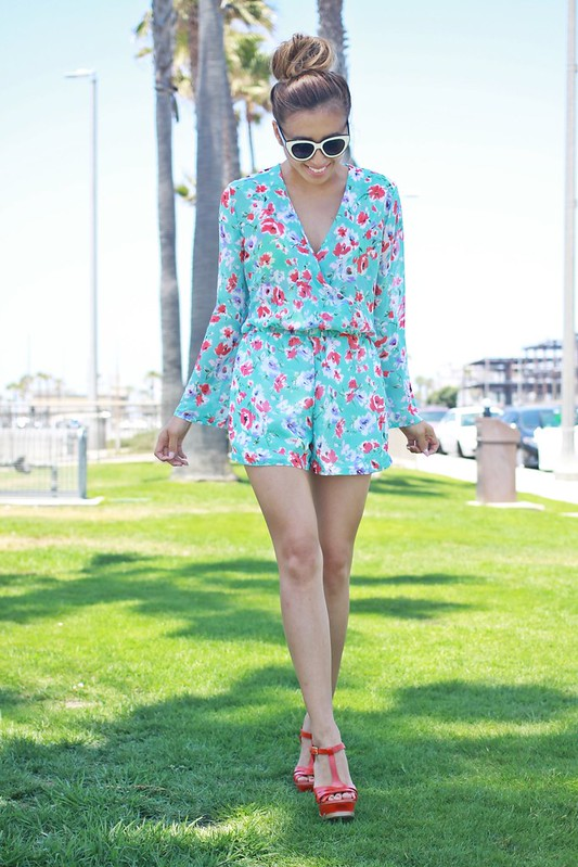 lucky magazine contributor,fashion blogger,lovefashionlivelife,joann doan,style blogger,stylist,what i wore,my style,fashion diaries,outfit,savous,floral romper,fourth of july,summer style,summer trends,zerouv,orange county,asian american fashion blogger,bakers shoes,street style,epic summer