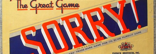 1950 Parker Brothers SORRY Vintage Game 1950s B_0