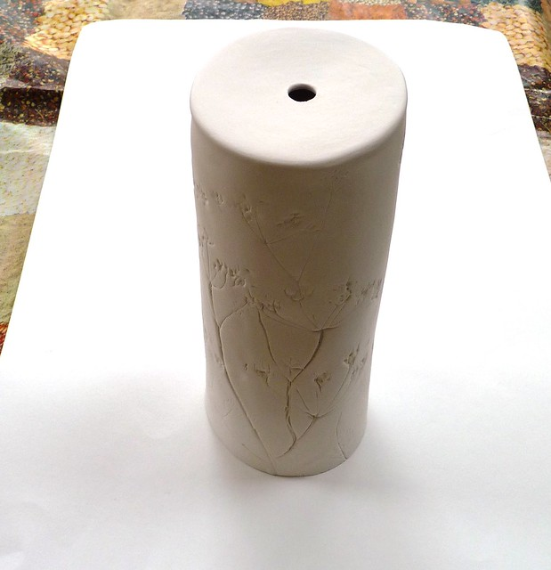 hand built ceramic lamp base