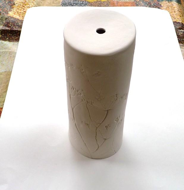 hand built ceramic lamp base