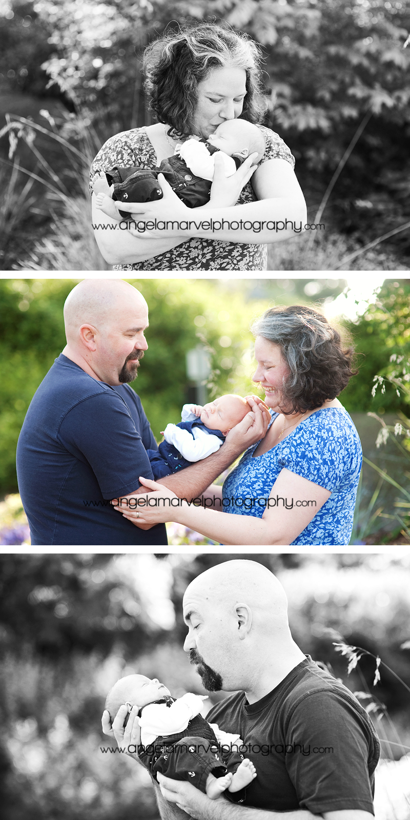tacoma newborn outdoor session