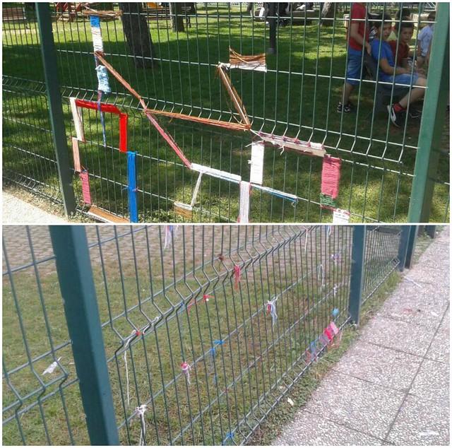 Guerrilla knitting prima e dopo