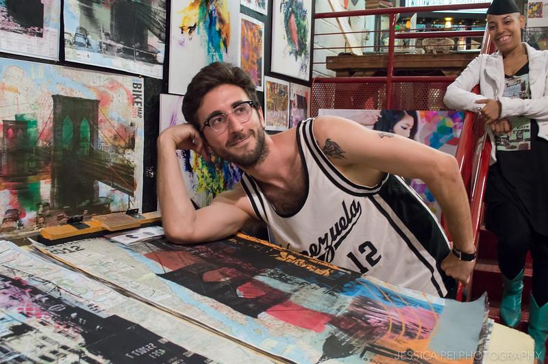 Artist at Chelsea Flea Market in New York