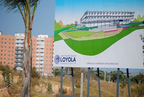 Zona de construcción del Campus Loyola Andalucía