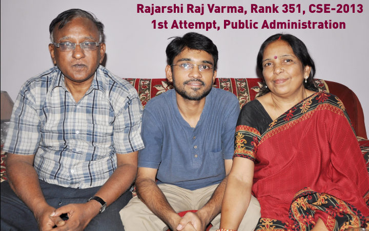 Topper CSE 2013 Rank 351 Rajarshi Verma