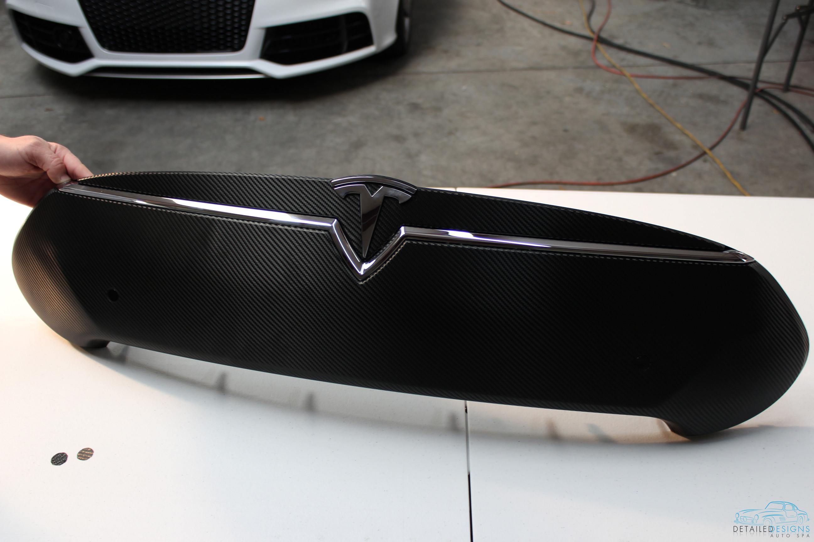 Tesla Model S 3m 1080 Carbon Fiber Vinyl Nose Cone Wrap