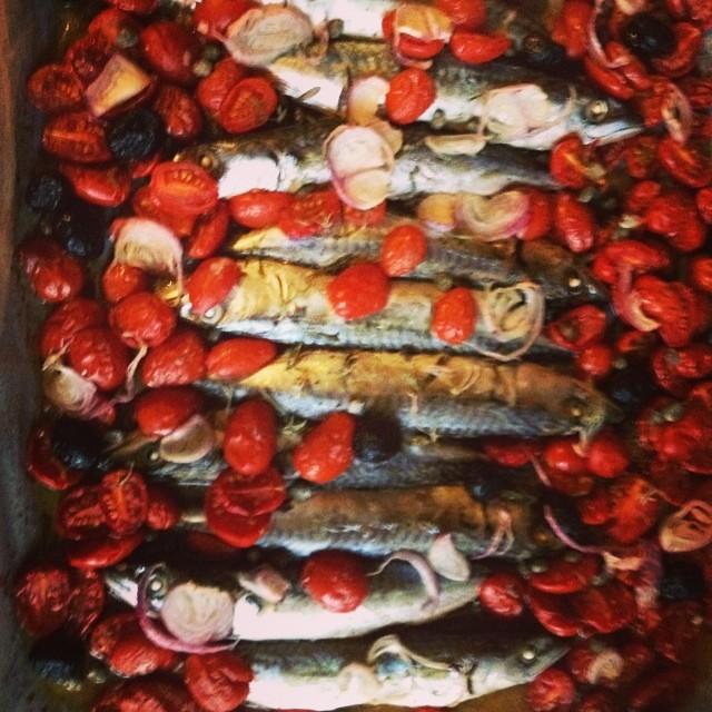 Sgombri al forno #instafood #cibo #pesceazzurro