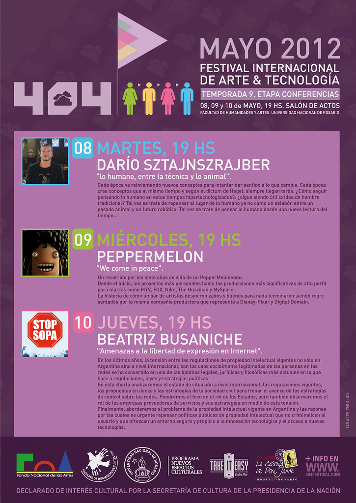 404 FESTIVAL 2012 MAYO, ROSARIO, ARGENTINA.