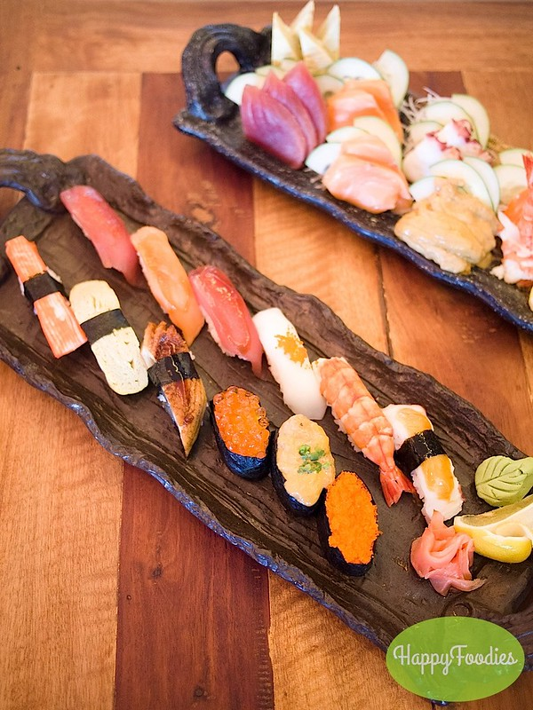 Mixed sushi platter (Php 539)