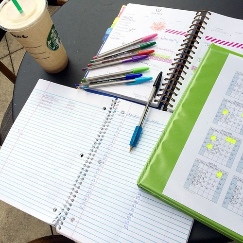 Planning. Goal making. And trying to wrap my mind around the fact that we start back to school in about three weeks.