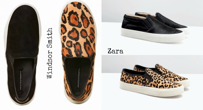 slip on leopardo zara