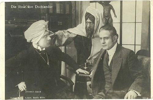 Friedrich Zelnik and Erich Kaiser-Titz in Die Rose von Dschiandur