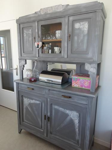 Buffet des ann es 30 relook effet chaul fourchettes et pinceaux - Customiser un vaisselier ...