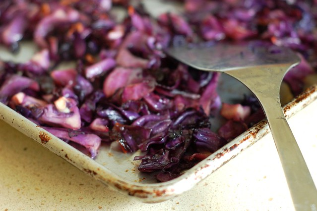 Salty, sweet coconut maple soy roasted cabbage by Eve Fox, The Garden of Eating, copyright 2014