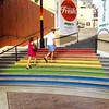 Loving the steps at Horton Plaza and wondering if they will remain after #sdpride